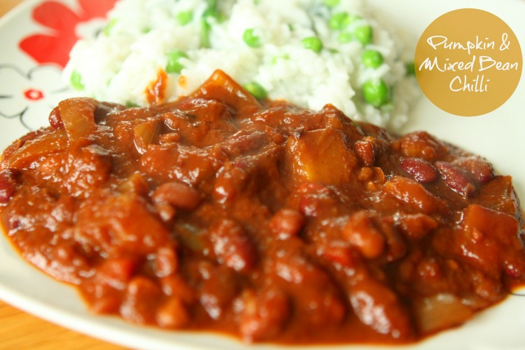 Slow Cooker Pumpkin & Mixed Bean Chilli