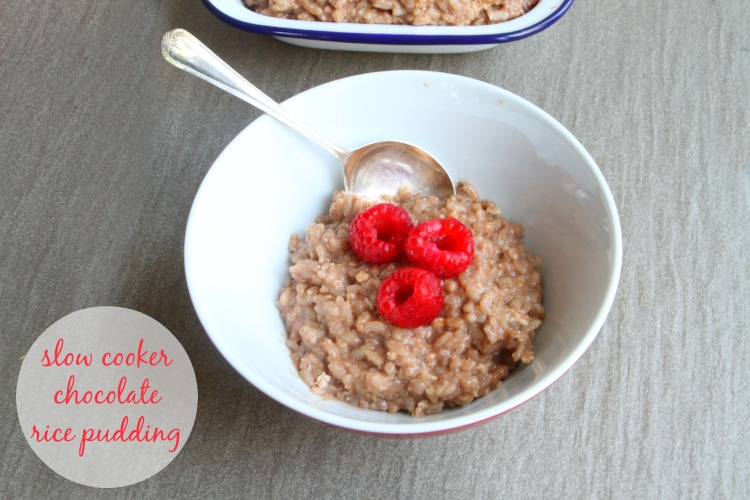 Slow Cooker Chocolate Rice Pudding