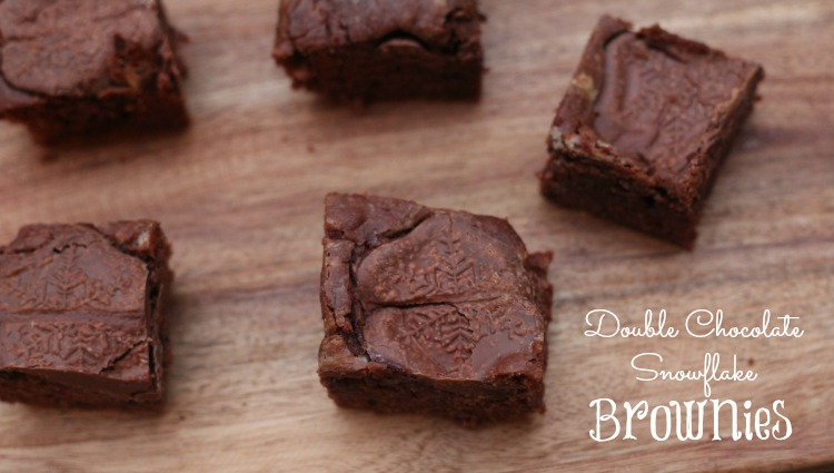 Double Chocolate Snowflake Brownies