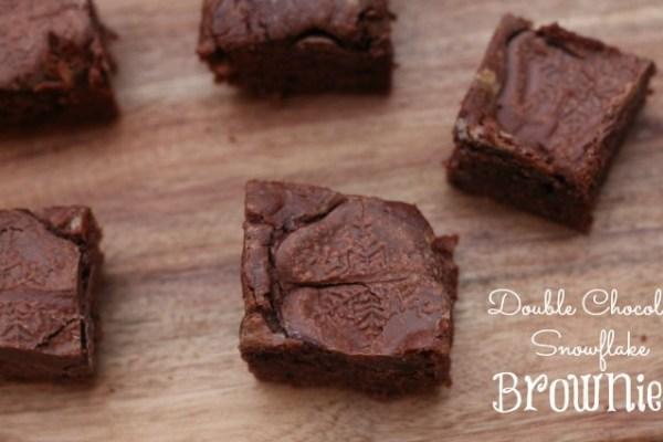 Double Chocolate Snowflake Brownies