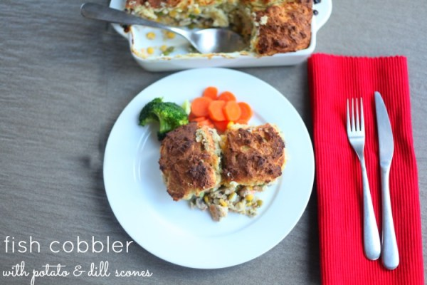 Fish Cobbler with Potato & Dill Scones