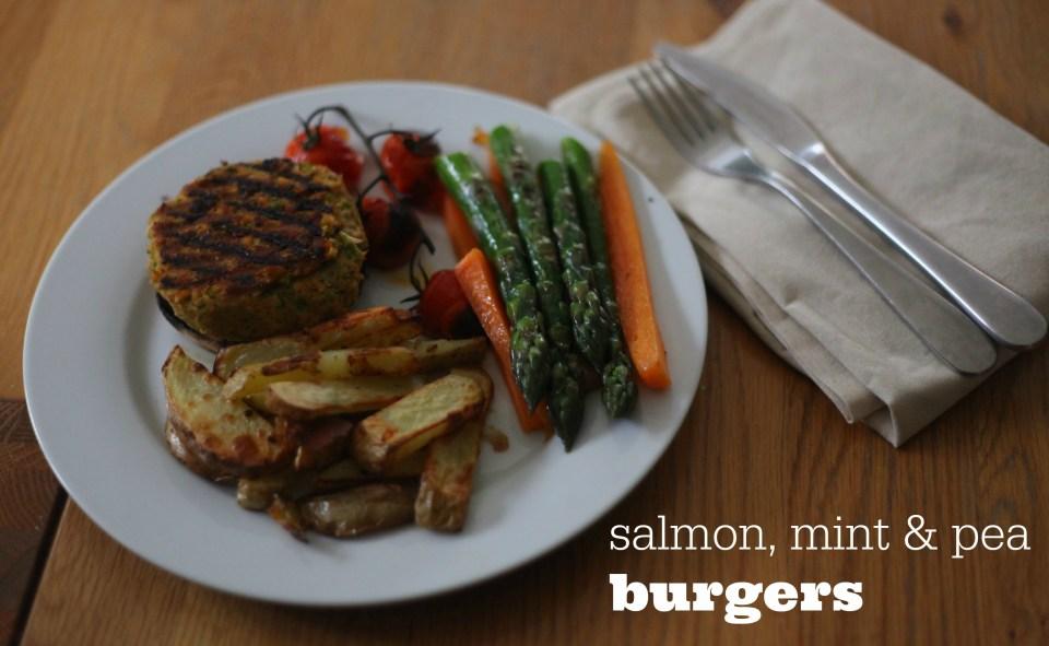 Salmon, Mint & Pea Burgers