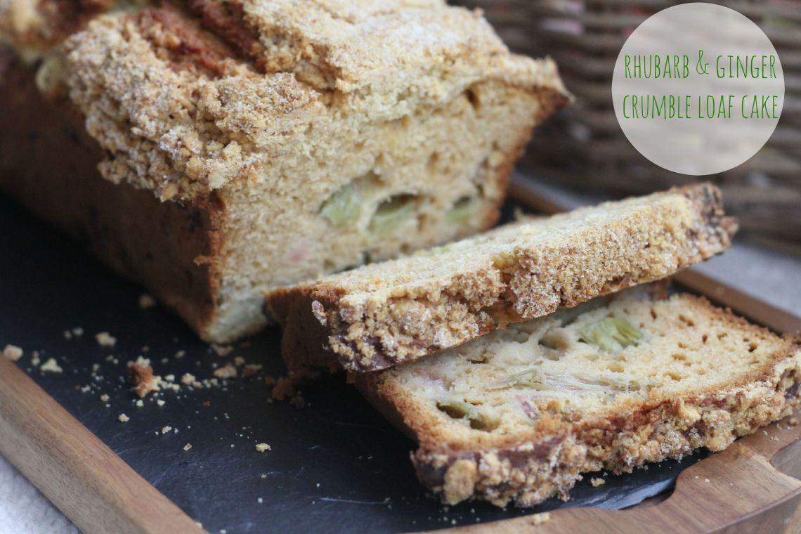 Rhubarb & Ginger Crumble Loaf Cake