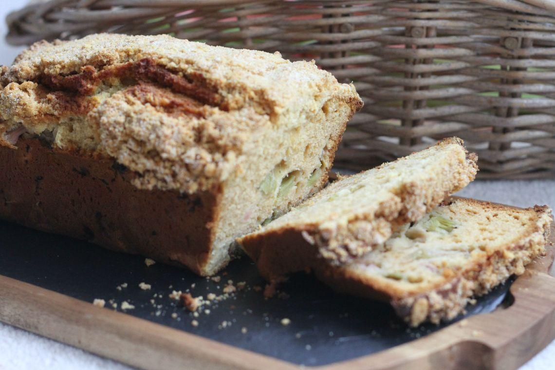 rhubarbcake 2 slices