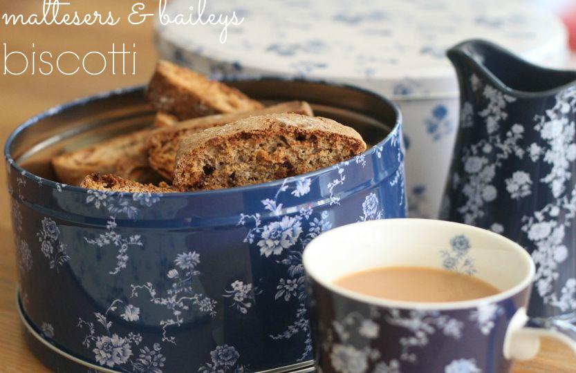 maltesers and baileys biscotti