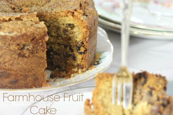 Farmhouse Fruit Cake with a Marzipan Layer Inside #GBBOBloggers2015