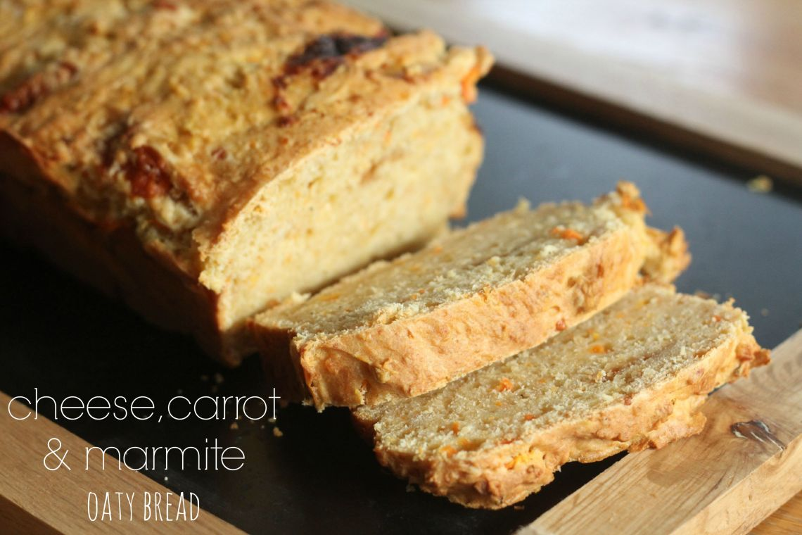 cheese, carrot & marmite oaty bread