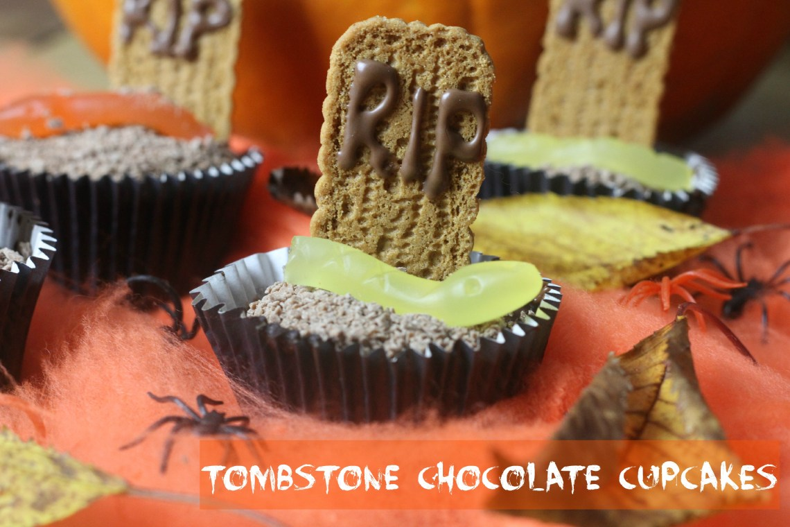 tombstone chocolate cupcakes
