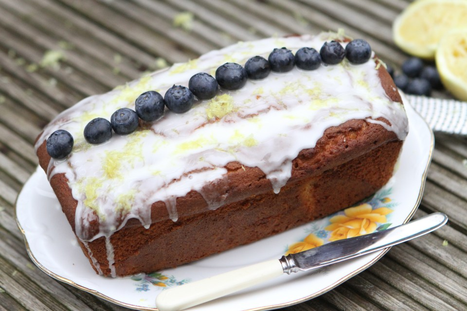 Blueberry, Ginger and Lemon Yogurt Cake