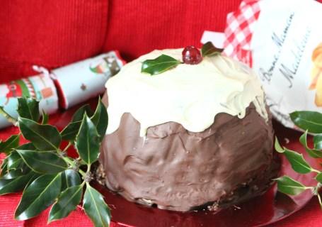 Christmas Madeleine Cherry Chocolate Puding