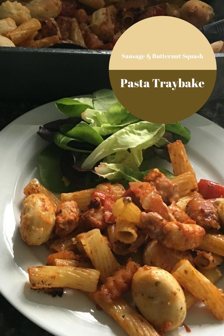 Sausage & Butternut Squash Pasta Traybake