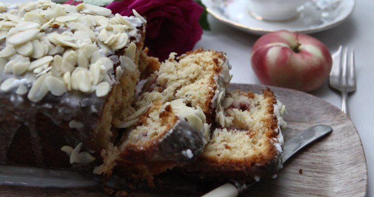 Peach and Almond Loaf Cake