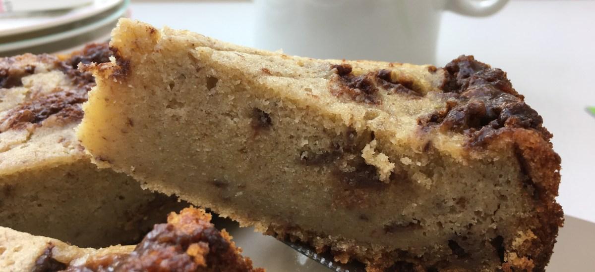 Slow Cooker Mars Bar and Banana Cake