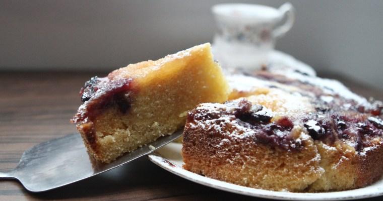 Slow Cooker Blueberry, Lemon & Ginger Cake