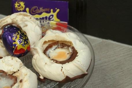 Creme Egg Meringue Nests