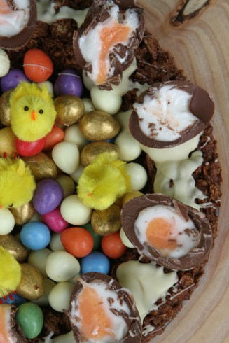 Giant Chocolate Easter Nest Cake