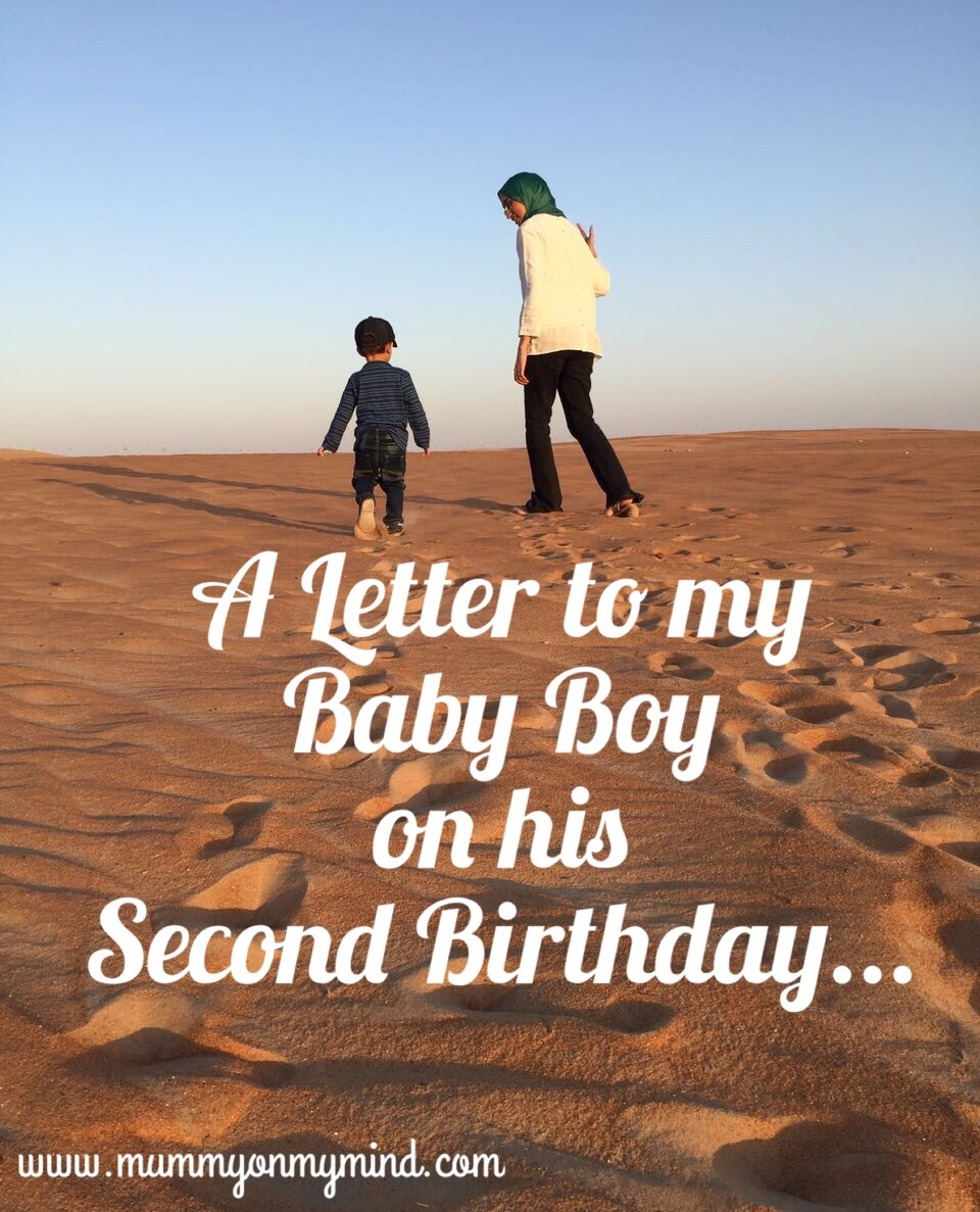 A letter to my Baby Boy on his Second Birthday...