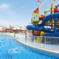 Family Splash at Legoland Water Park Dubai...
