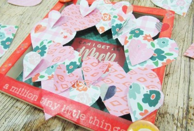 3D heart wreath frame mummyonmymind