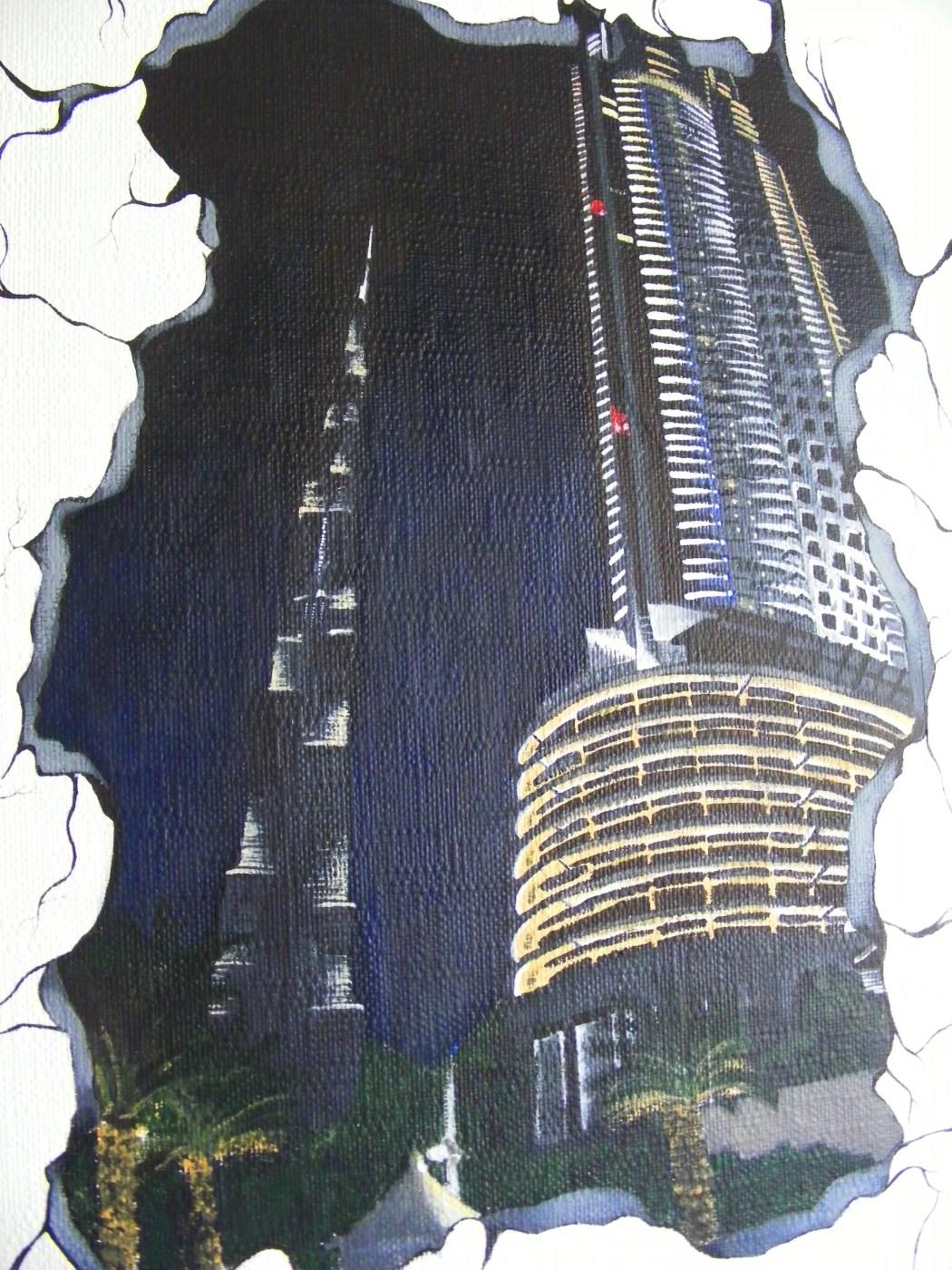 burj khalifa painting mummyonmymind