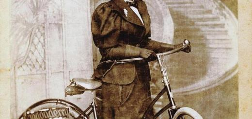 Annie Londonderry and her bike