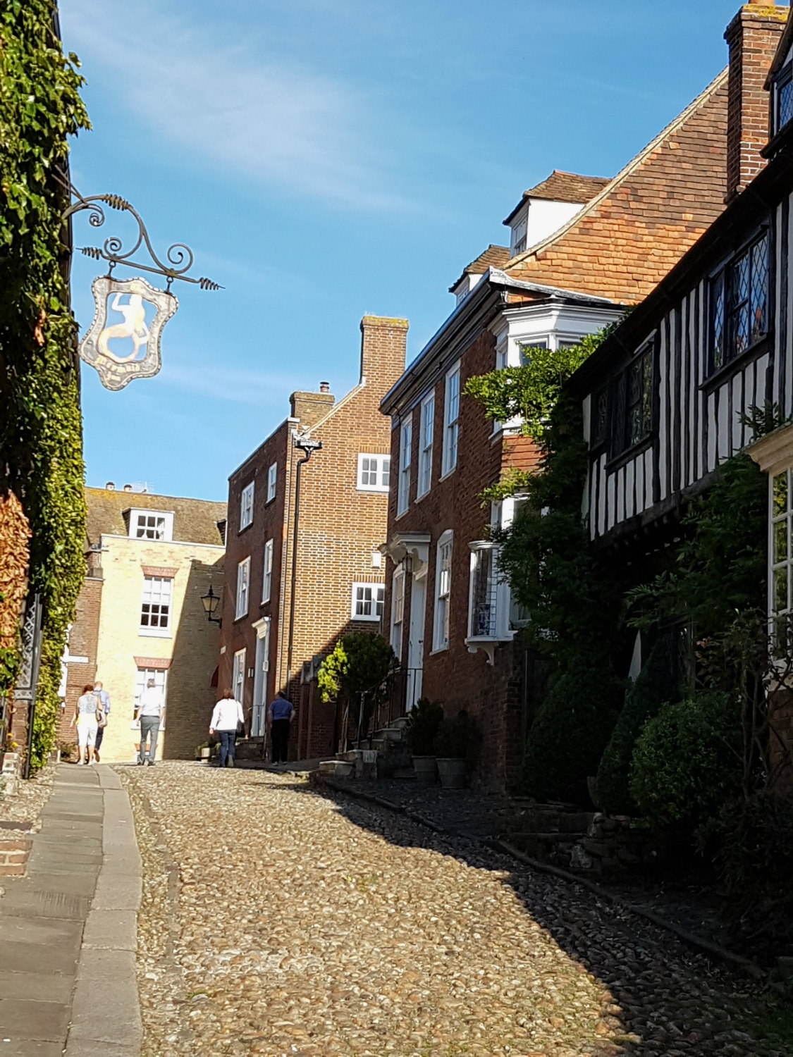 A street in historic Rye, East Sussex - spending a weekend in East Sussex with my daughter before the start of school, to explore the history and coastline