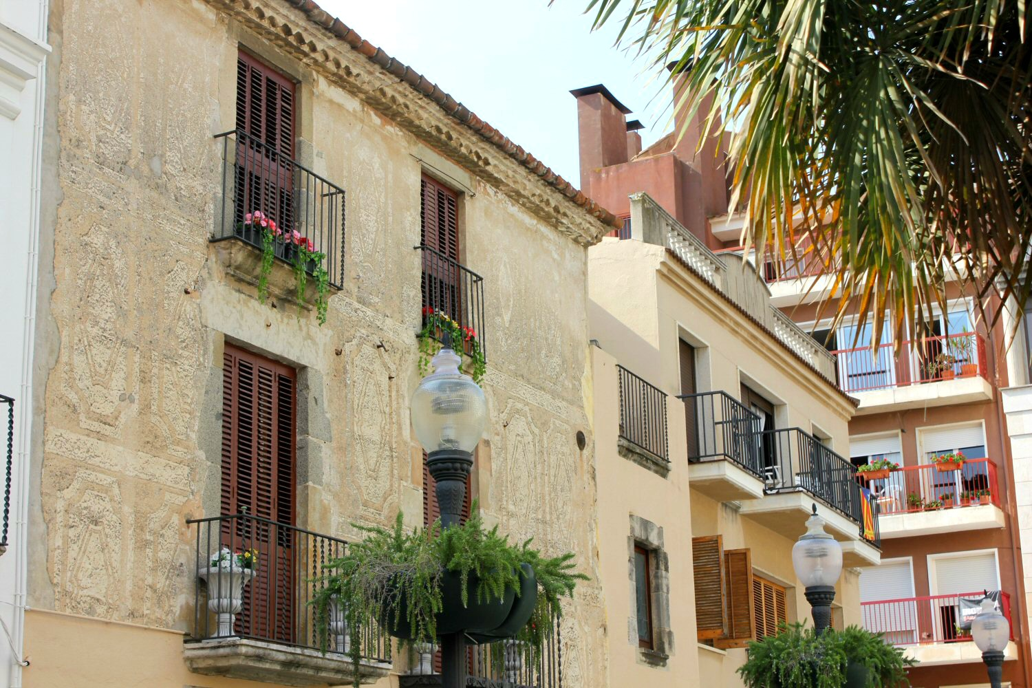 Stone buildings n the old town in Calella - how to spend one day in Calella, Costa Barcelona, Spain
