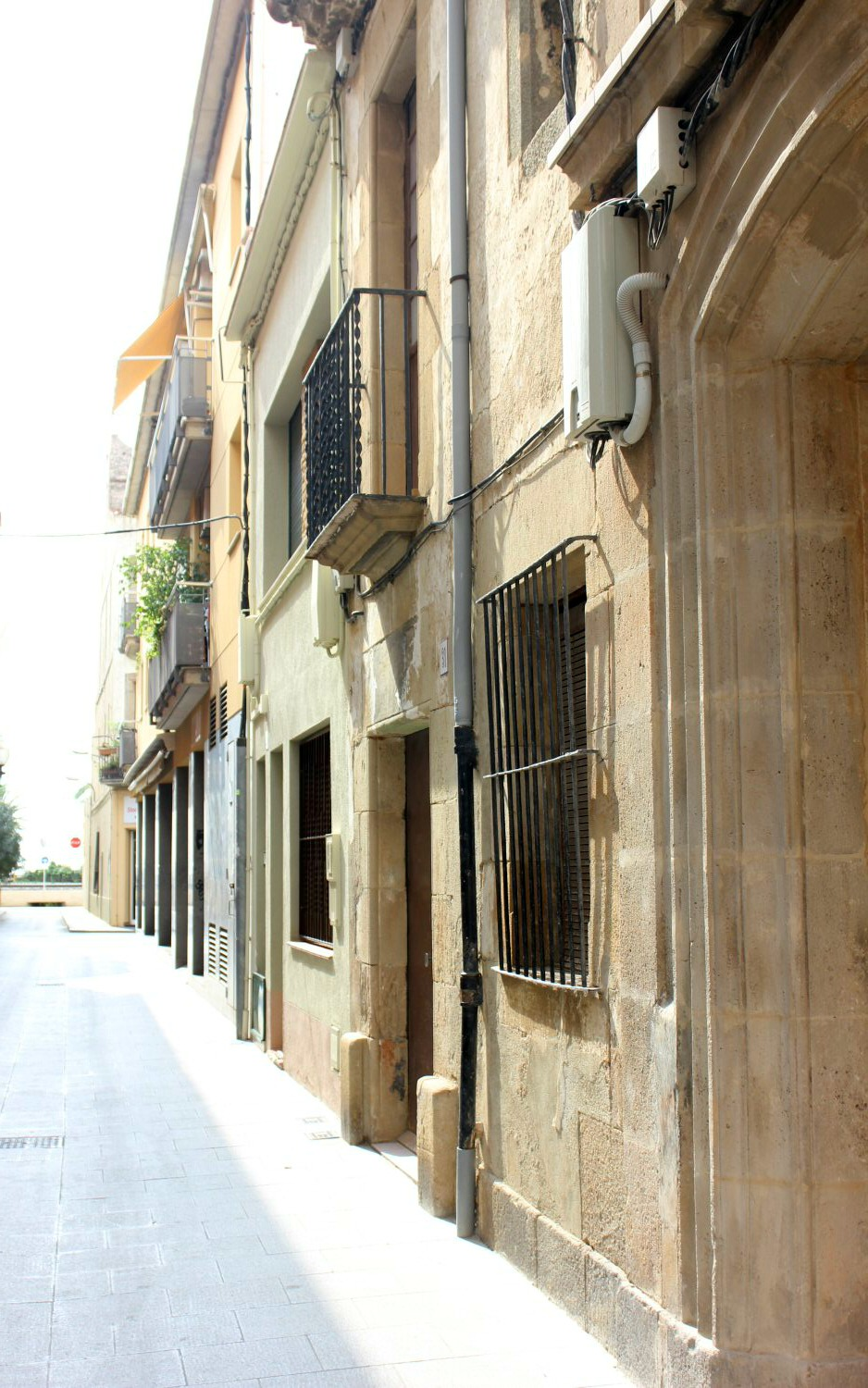 Traditional old buildings in Calella.My photo tour of Costa Barcelona