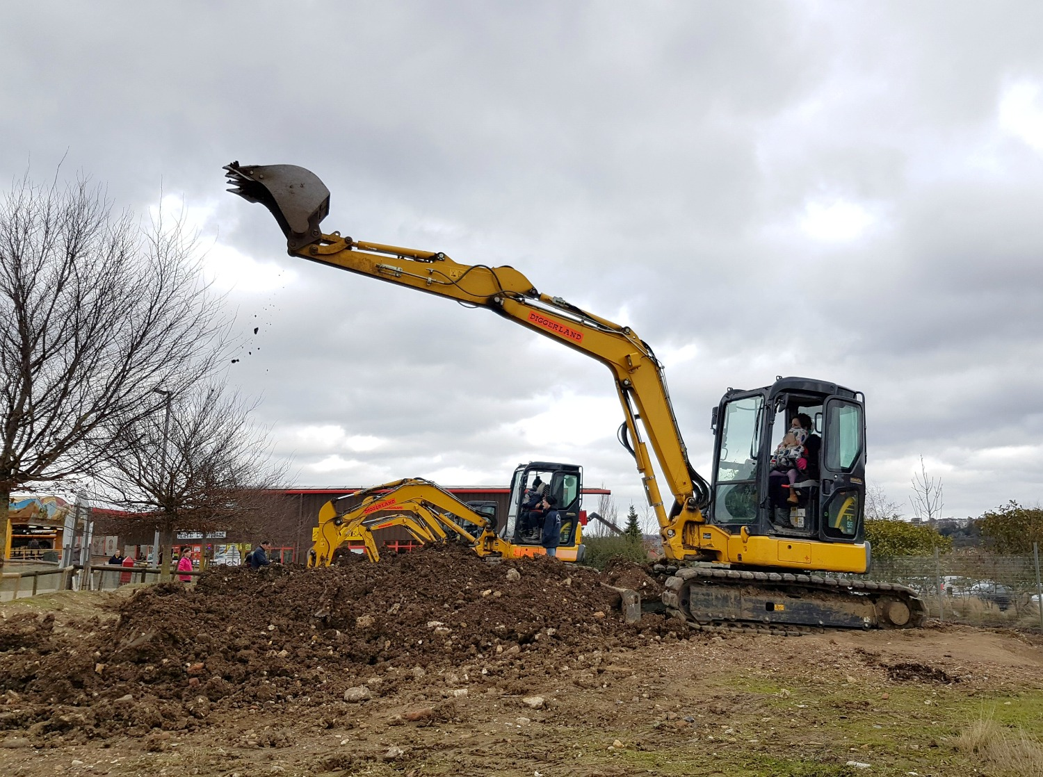The biggest digger at Diggerland Kent - one of the attractions on this family day out