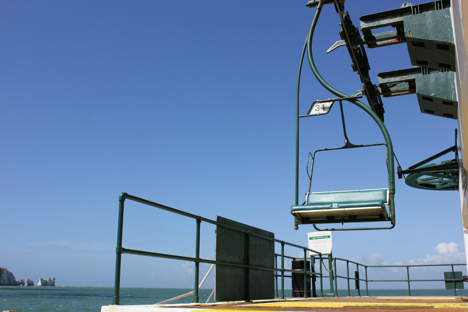 The chair lift from Alum Bay back up to The Needles attraction - discovering the Isle of Wight coast