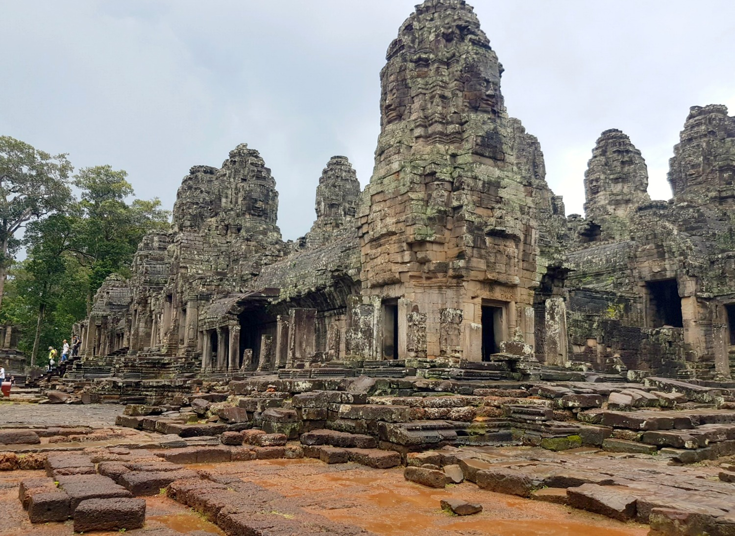 A view of Bayon temple with its huge heads - 12 reasons to visit Cambodia with kids