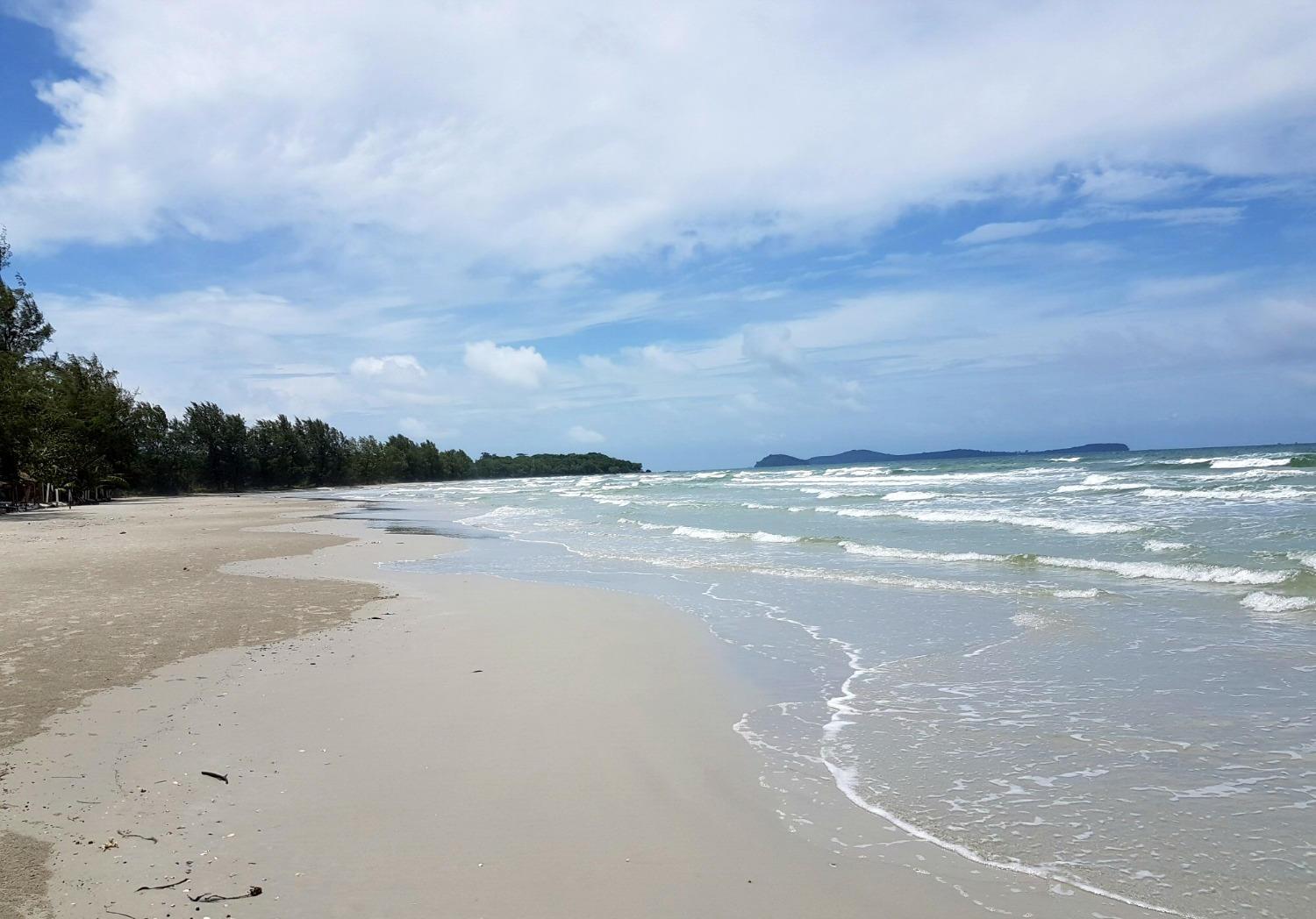 View along the unspoiled Otres Beach - 12 reasons to visit Cambodia with kids