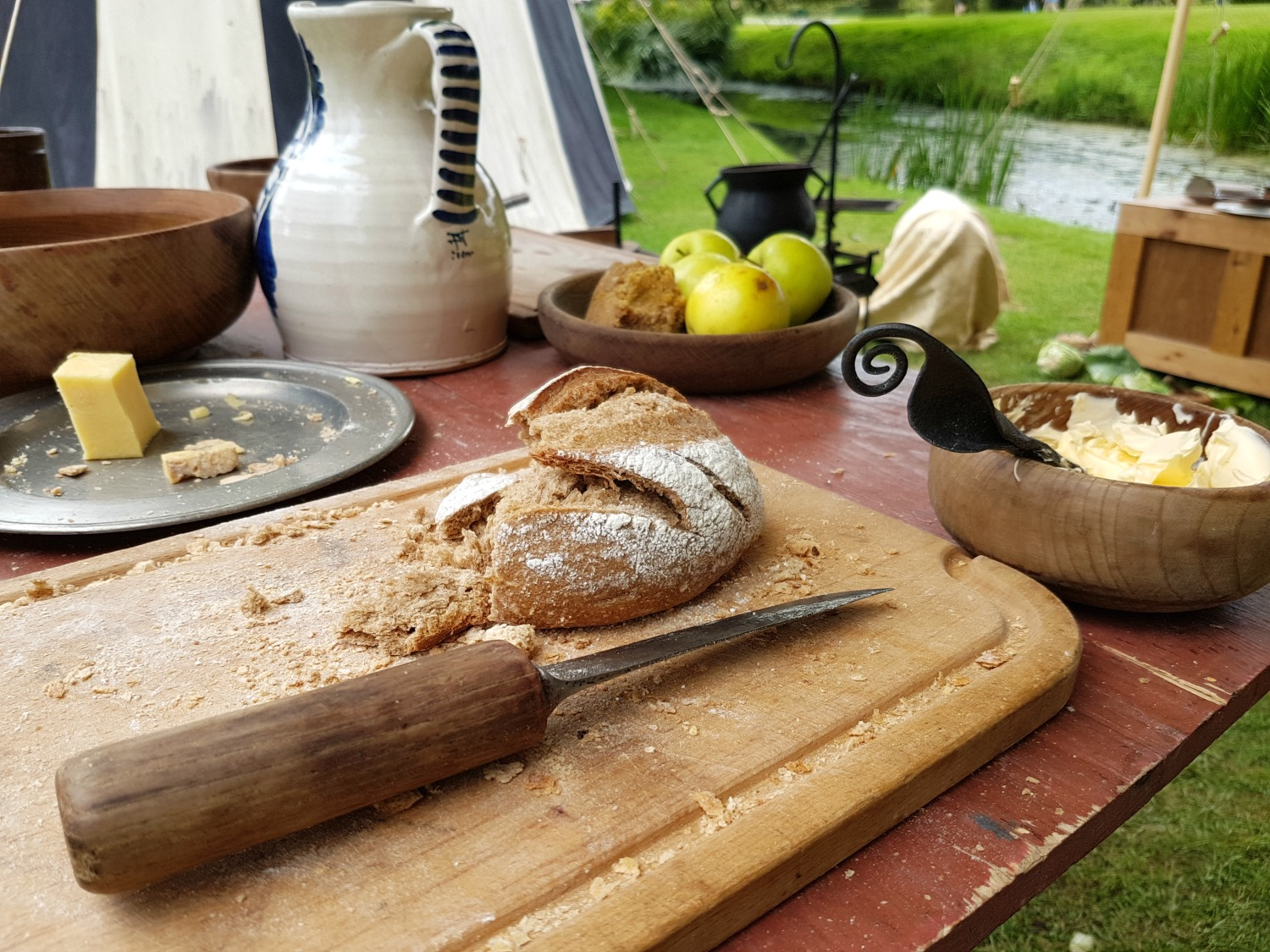 Food from a Tudor kitchen at Hever Castle, Kent - our family day out at Hever Castle with kids