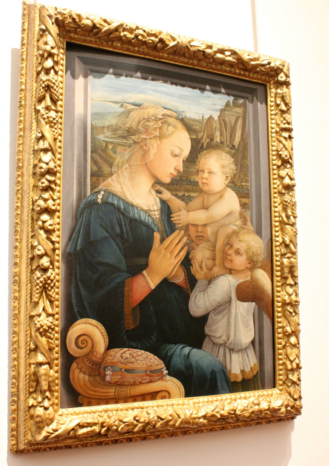 Artwork at the Uffizi gallery in Florence, Italy - my Uffizi tour with kids and gelato making day in Florence