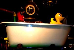 scuba diver, duck, bath, mumof2