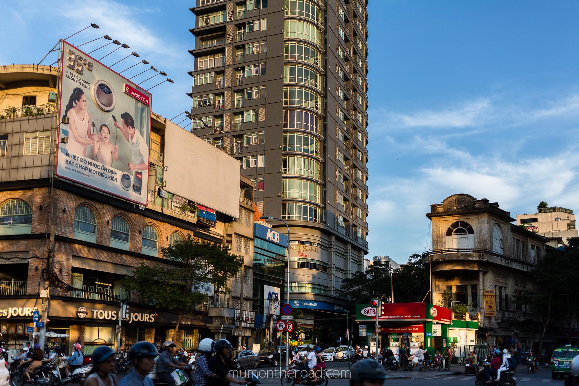Vue sur le comptoir saigonais du district 1 à Saigon au Vietnam