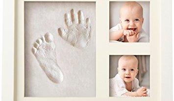 Baby Handprint Kit & Footprint Photo Frame for Newborn Girls and Boys, Baby