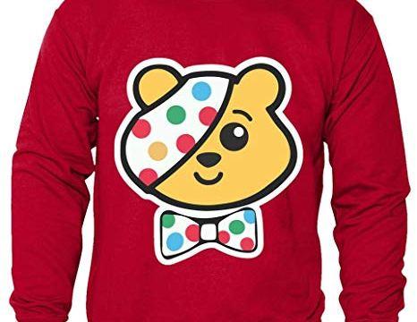 Kids Unisex Boys Girls Pudsey Bear Children in Need Spots Charity Sweatshirt Jumpers