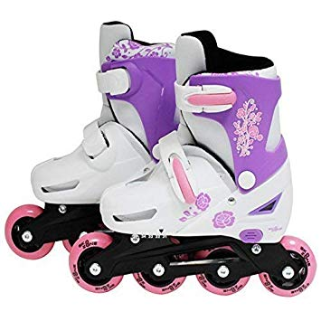 SK8 Zone Girls Pink Roller Blades Inline Skates Adjustable Size Childrens Kids Pro Skating