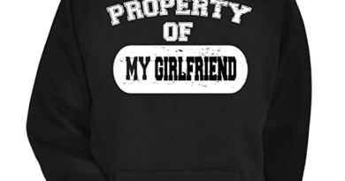 Property of My Girlfriend Distressed Look Funny Joke Valentines Gift for Him Mens T-Shirt Hoodie Jumper Cool Funny Gift Present Unisex Fit