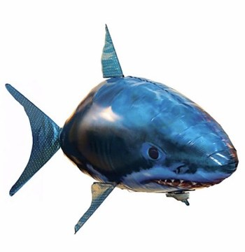 Air Swimmers Large Remote Control Flying Shark,Plastic Inflatable Balloon Toy