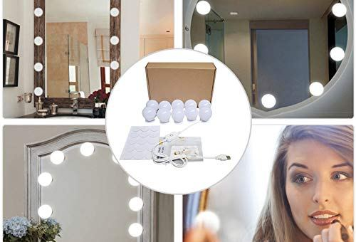 Makeup Mirror Hollywood Style LED Vanity Mirror Lights Kit with 10 Dimmable Bulbs