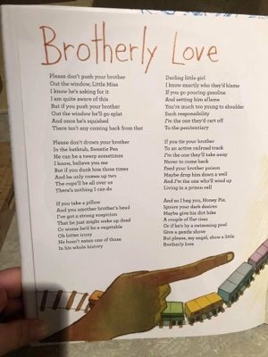 Poem For Children To Encourage Murdering Siblings