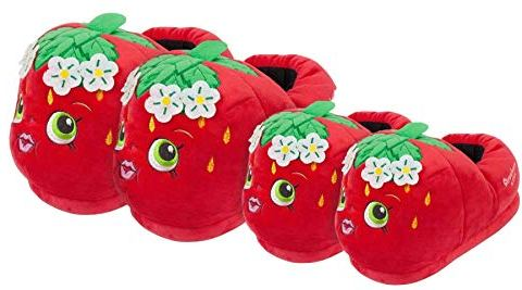 Novelty Strawberry Character 3D Mini Me Mum and Daughter Matching Slipper Set