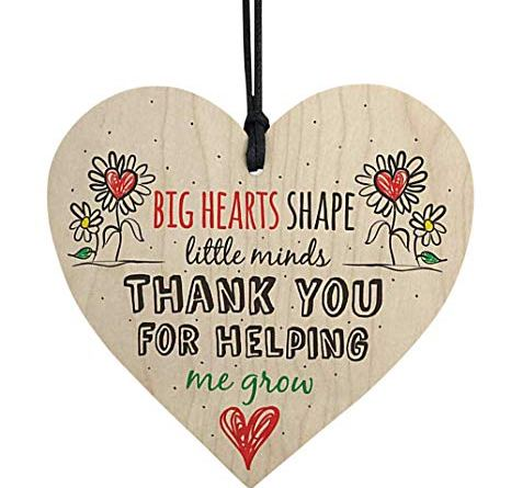 """Wooden Wall Hanging Plaque""""Think You for Helping""""Pendant Plate"""