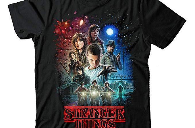 Stranger Things Netflix Movie Poster Black Unisex T Shirt