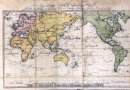 an old map of the world