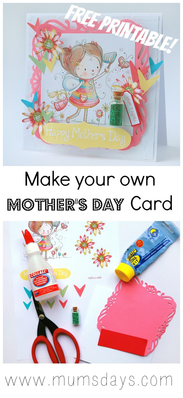 How to make a Mother's Day Card Mums' Days