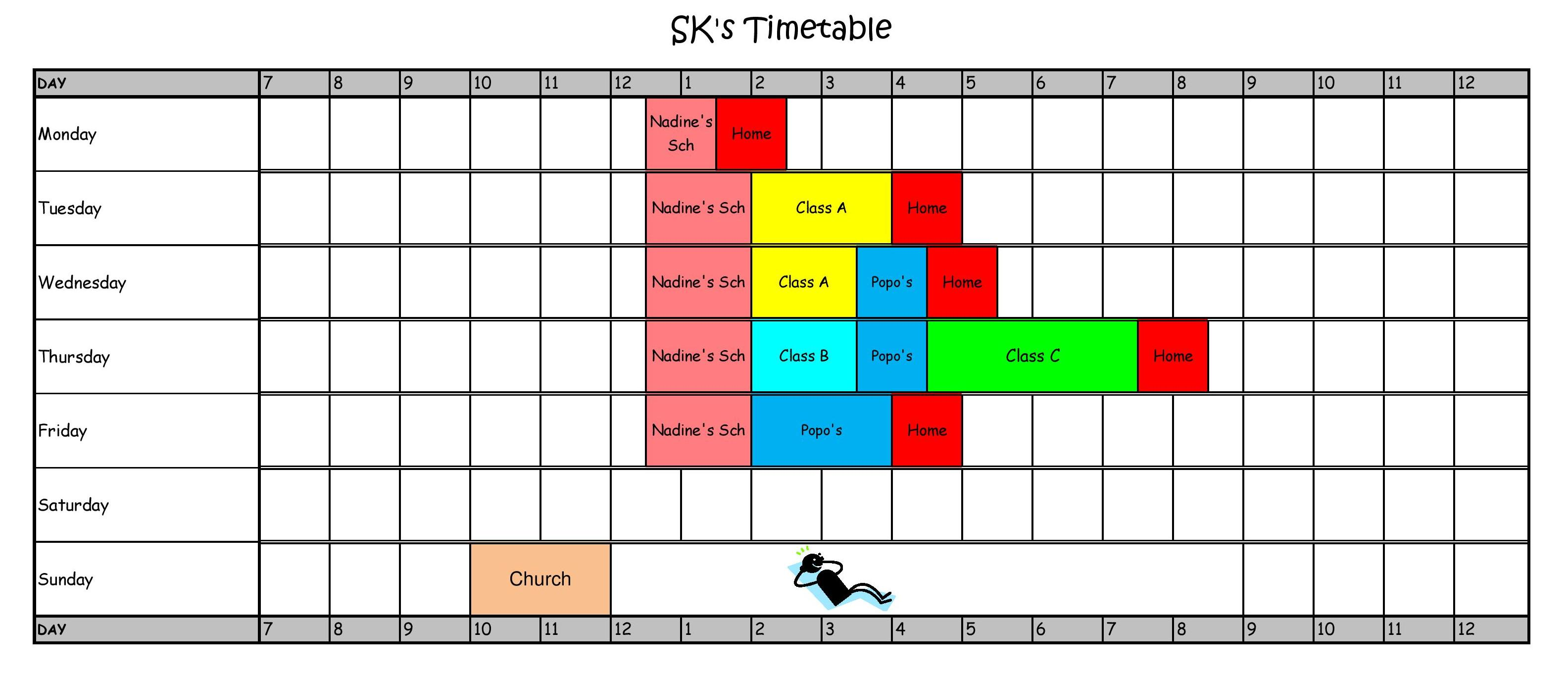 Weekly Revision Timetable Weekly Schedule Templates For Excel Smartsheet Blank Revision
