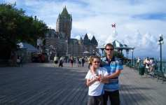 boardwalk in Quebec